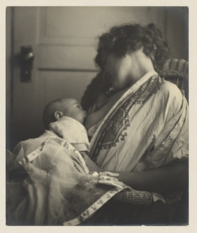 Mother Breast-feeding her Baby, by Louis Fleckenstein