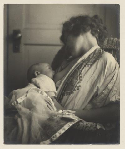 Mother Breast-feeding her Baby, by Louis Fleckenstein