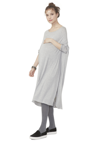 Hatch Jersey Drape Dress